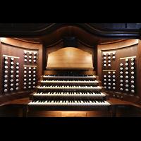 Lausanne, Saint-François (Spanische Orgel), Spieltisch der Hauptorgel
