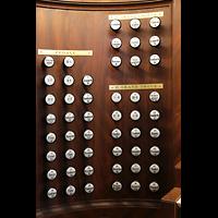 Lausanne, Saint-François (Spanische Orgel), Linke Registerstaffel der Hauptorgel