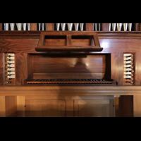 Lausanne, Saint-François (Spanische Orgel), Spieltisch der italienischen Orgel