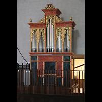 Lausanne, Saint-François (Spanische Orgel), Spanische Orgel von der Empore der italienischen Orgel aus gsehen