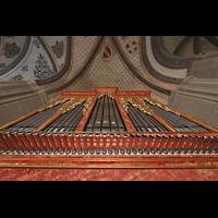 Lausanne, Saint-François (Spanische Orgel), Prospekt der spanischen Orgel mit Chamaden