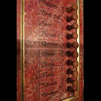 Lausanne, Saint-François (Spanische Orgel), Linke Registerstaffel der spanischen Orgel