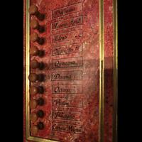 Lausanne, Saint-François (Spanische Orgel), Rechte Registerstaffel der spanischen Orgel