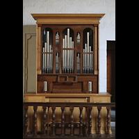 Lausanne, Saint-François (Spanische Orgel), Italienische Orgel von der Empore der spanischen Orgel aus gesehen