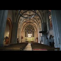 Lausanne, Saint-François (Spanische Orgel), Innenraum in Richtung Chor