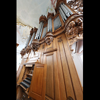 Arlesheim, ehem. Dom, Orgel mit Spieltisch seitlich