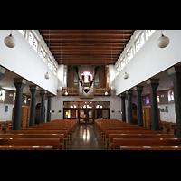 Berlin - Steglitz, Mater Dolorosa Lankwitz, Innenraum in Richtung Orgel