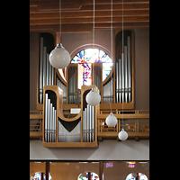Berlin - Steglitz, Mater Dolorosa Lankwitz, Orgel seitlich vom Altarraum aus gesehen