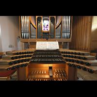 Berlin - Steglitz, Mater Dolorosa Lankwitz, Orgel mit Spieltisch perspektivisch