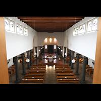 Berlin - Steglitz, Mater Dolorosa Lankwitz, Blick über das Rückpositiv in die Kirche
