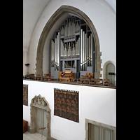 Berlin (Wilmersdorf), Grunewaldkirche, Orgelempore von der seitlichen Empore aus gesehen