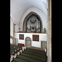 Berlin (Wilmersdorf), Grunewaldkirche, Blick von der Seitenempore zur Orgel