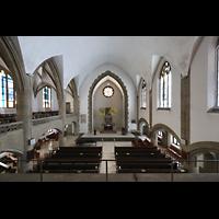 Berlin (Wilmersdorf), Grunewaldkirche, Blick von der Orgelempore in die Kirche