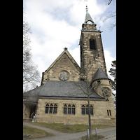 Berlin (Wilmersdorf), Grunewaldkirche, Turm und Chor von außen