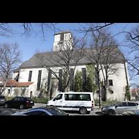 Berlin (Wilmersdorf), Lindenkirche, Kirche seitlich von außen