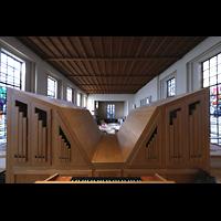 Berlin (Wilmersdorf), Lindenkirche, Rückansicht des Rückpositivs mit mitteltönigem Holzprinzipal