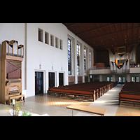 Berlin (Wilmersdorf), Lindenkirche, Orgelanlage mit Chor- und Hauptorgel