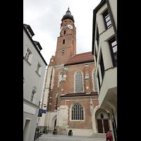 Straubing, Basilika St. Jakob, Ansicht von der Jakobsgasse