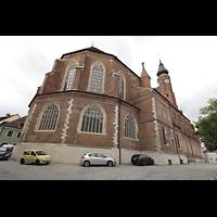 Straubing, Basilika St. Jakob, Außenansicht Chor von der Seminargasse