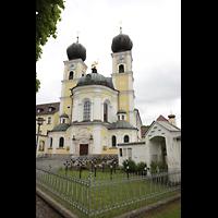 Metten, Benediktinerabtei, Pfarr- und Stiftskirche St. Michael, Außenansicht