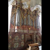 Metten, Benediktinerabtei, Pfarr- und Stiftskirche St. Michael, Orgel seitlich