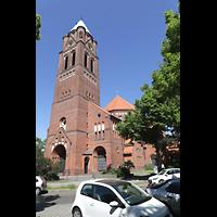 Berlin - Spandau, St. Marien (Maria, Hilfe der Christen), Außenansicht mit Turm