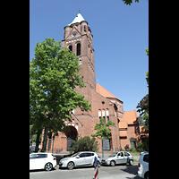 Berlin - Spandau, St. Marien (Maria, Hilfe der Christen), Ansicht von der Flankenschanze Ecke Galenstraße