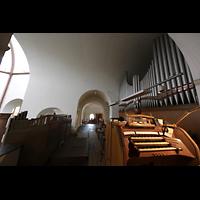 Berlin - Spandau, St. Marien (Maria, Hilfe der Christen), Spieltisch mit Orgel
