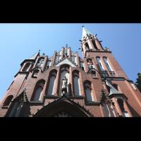 Berlin (Reinickendorf), Herz-Jesu-Kirche Tegel, Fasade perspektivisch