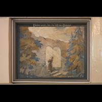 Berlin - Heiligensee, Dorfkirche, Gemälde an der Orgelempore: Vaterunser, Teil 1