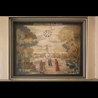 Berlin - Heiligensee, Dorfkirche, Gemälde an der Orgelempore: Vaterunser, Teil 2