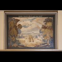 Berlin - Heiligensee, Dorfkirche, Gemälde an der Orgelempore: Vaterunser, Teil 5