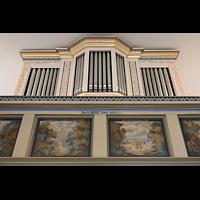 Berlin - Heiligensee, Dorfkirche, Orgel perspektivisch