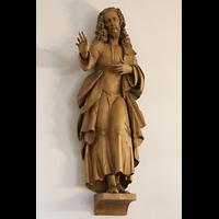 Berlin - Heiligensee, Dorfkirche, Geschnitzte Christus-Figur an der Seitenwand