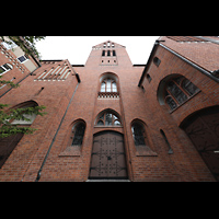 Berlin (Reinickendorf), St. Marien (Hauptorgel), Fassade mit Turm