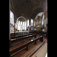 Berlin (Reinickendorf), St. Marien (Hauptorgel), Schräger Blick vom Hauptschiff zur Orgel und in den Chor