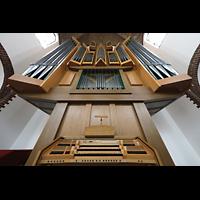 Berlin (Reinickendorf), St. Marien (Hauptorgel), Orgel mit Spieltisch perspektivisch
