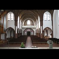 Berlin (Reinickendorf), St. Marien (Hauptorgel), Blick über den Altar zur Emporenorgel