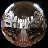 Berlin (Reinickendorf), St. Marien (Hauptorgel), Gesamter Innenraum mit Blickrichtung zum Chor