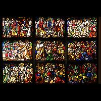 Berlin - Reinickendorf, St. Hildegard Frohnau (Positiv), Bunte Glasfenster