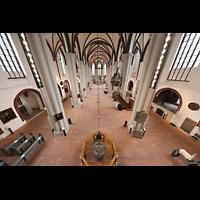 Berlin (Mitte), Museum Nikolaikirche, Blick von der orgelempore in den Raum