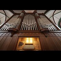 Berlin (Mitte), Museum Nikolaikirche, Orgel mit Spieltisch perspektivisch