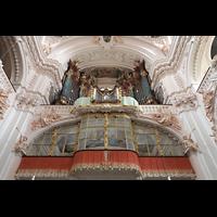 Waldsassen, Stiftsbasilika, Orgelempore perspektivisch