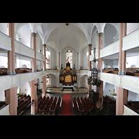 Hof, St. Michaelis, Blick von der Orgelempore in die Kirche