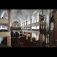 Hof, St. Michaelis, Blick von der rechten Seitenempore zur Orgel