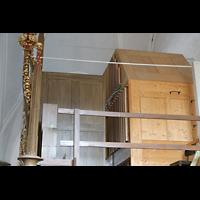 Hof, St. Michaelis, Seitenansicht der Orgel, rechts das neue Schwellwerk