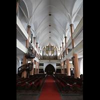 Hof, St. Michaelis, Innenraum in Richtung Orgel