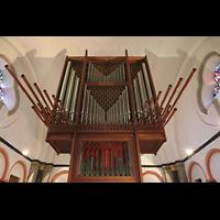 Mönchengladbach, Münster St. Vitus (Hauptorgel), Orgelprospekt mit Spanischen Trompeten