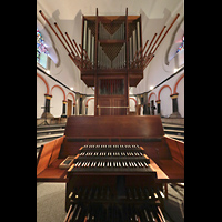 Mönchengladbach, Münster St. Vitus (Hauptorgel), Orgel mit Spieltisch