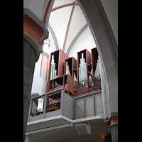 Mönchengladbach, Citykirche (Positiv), Orgelempore seitlich von unten